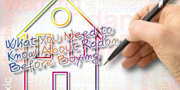 The danger of radon gas in our homes - concept image with text